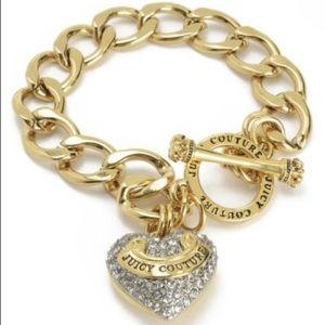 Juicy Couture gold chain braclet